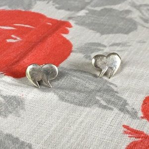 Cute silver tone quotation mark earrings-Modcloth